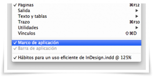 Hábitos para un uso eficiente de InDesign I