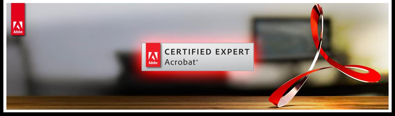 Curso de Preparación para el examen de Certificación Adobe Acrobat ACE - Cabecera
